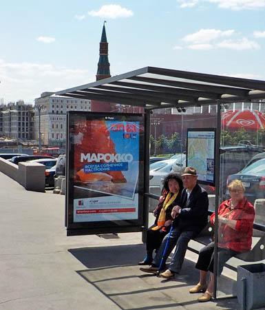 Размещение рекламы на остановках в Москве