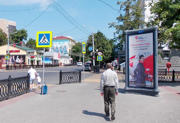 Реклама на пилларах в Уфе