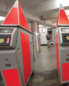 Стикеры в метро на турникетах