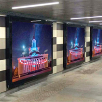 Реклама на экранах в метро