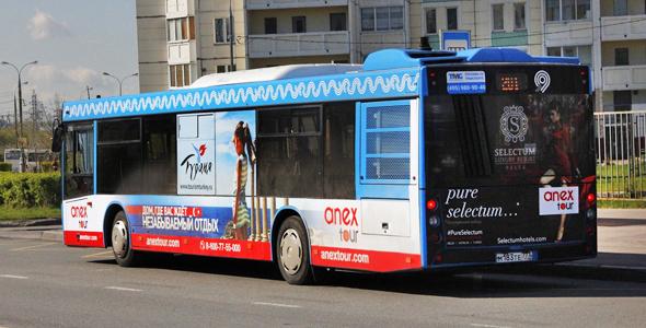 Реклама на транспорте в Москве