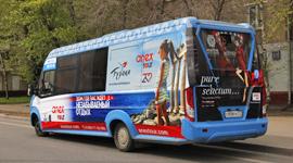 Реклама на маршрутках в Москве