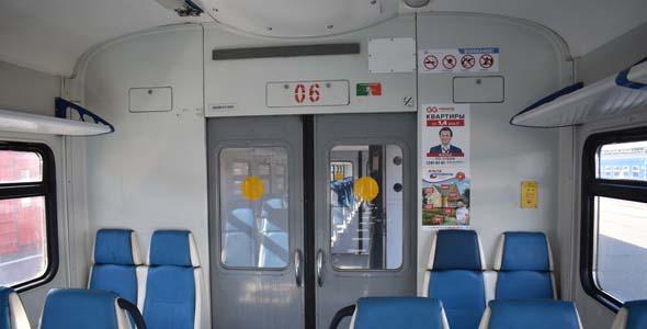 Реклама в электричках Павелецкого направления