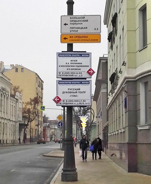 Информация для ориентирования в городе