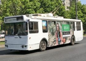 """Размещение рекламы на общественном транспорте для """"Sela"""""""